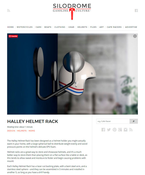 silodrome halley accessories helmet rack