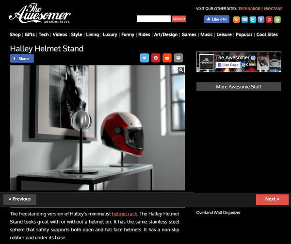 theawesomer Halley Helmet Stand