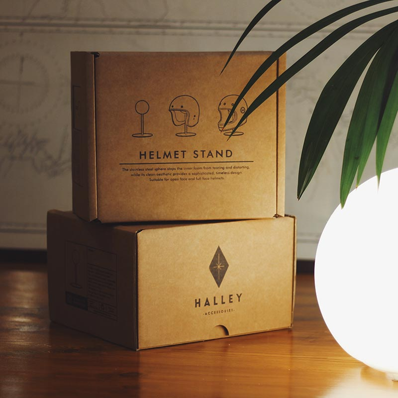 Halley Accessories - Helmet Stand Packaging