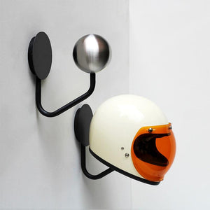 Halley wall helmet rack with gringo helmet