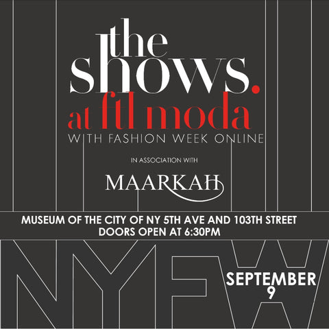 The Shows at FTL Moda with Fashion Week Online in association with Maarkah. Produced by FTL Moda.
