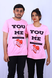 Graphics You & Me T shirt by T shirt factory india
