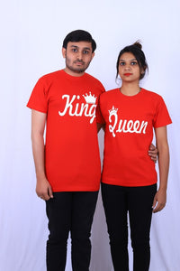comfortable King Queen t shirt by tshirt factory india