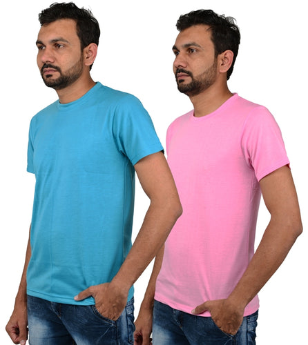 Men's Regular Fit Cotton T-Shirt (Pack of 2)