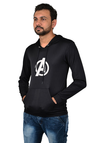 Avenger Licra Men's Stylish Hoodie For Summer
