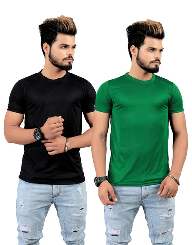 Men's Regular Fit Licra T-Shirt ( Pack Of 2 Combo )