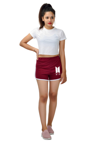 Womens or Girls Cotton BTS Short