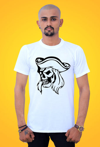 fashionable Pirate Skull – Cotton t shirts for Men from tshirt factory india