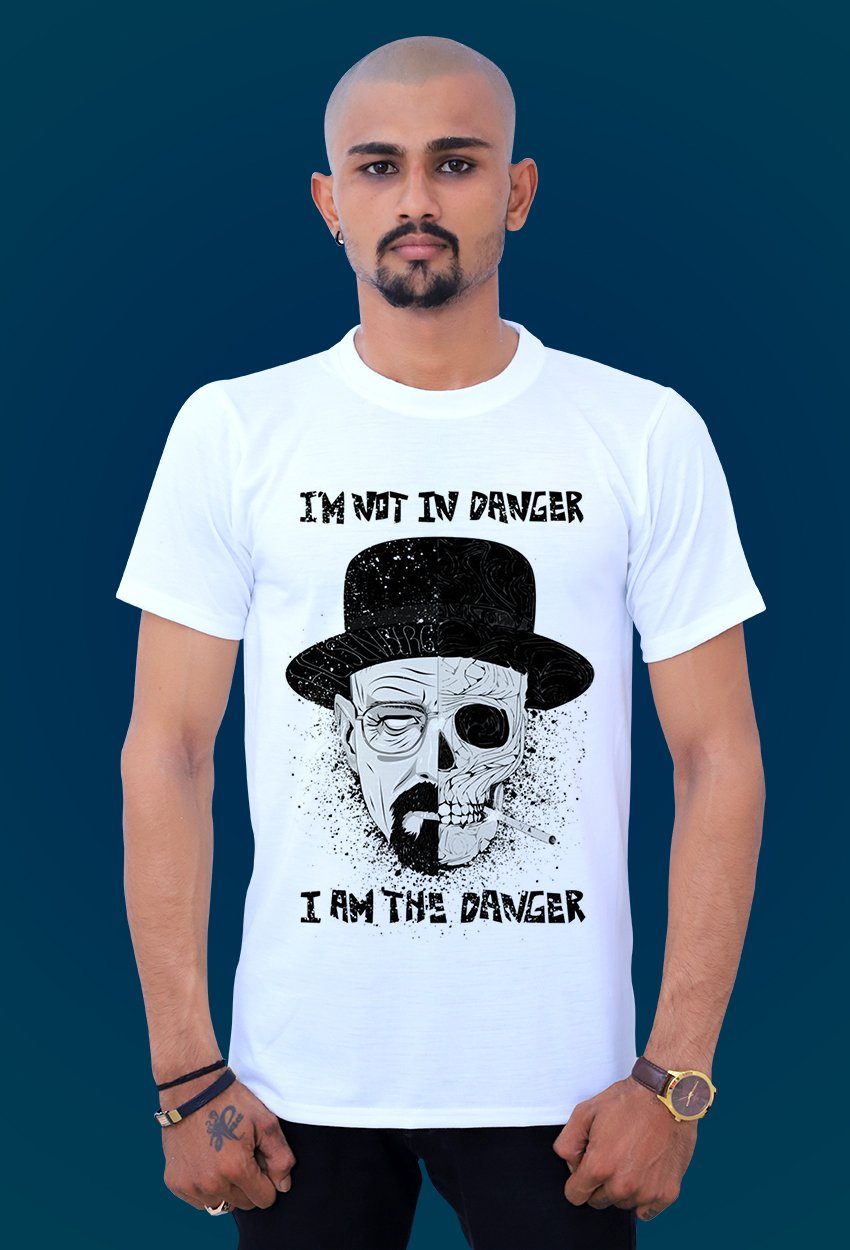 comfortable I Am The Danger t shirt by tshirt factory india