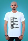 Graphics T Shirts Eat Sleep Bike Repeat by tshirt factory india