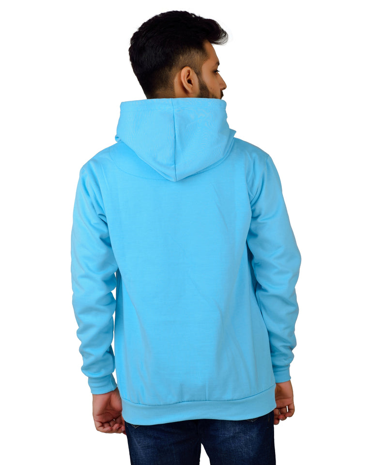 Men's Regular Fit Stay Weired Printed Cotton Hoodie