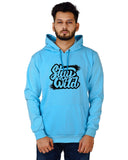 Men's Regular Fit Stay Wild Printed Cotton Hoodie