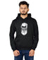 Men's Regular Fit Beard Man Printed Cotton Hoodie