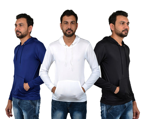 Licra Men's Stylish Hoodie For Summer (Combo Of 3)