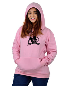 Women,s Regular Fit MINI Printed Cotton Hoodie
