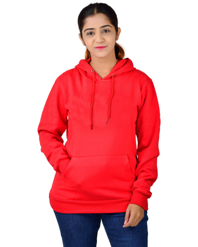 Regular Fit Plain Cotton Hoodie