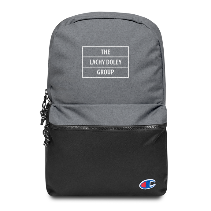 Lachy Doley - Embroidered Champion Backpack