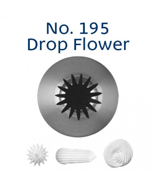 Piping Tip Stainless Steel Drop Flower Medium No. 195