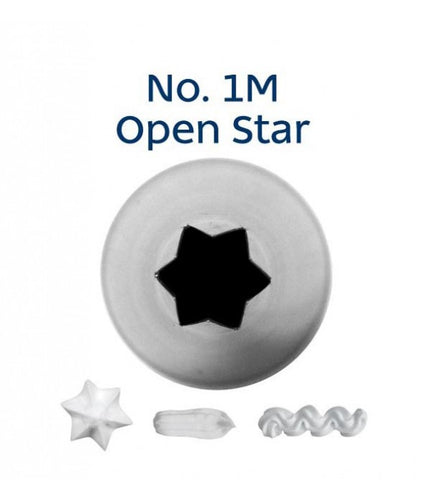 Piping Tip Stainless Steel Open Star Medium No. 1M