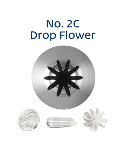 Piping Tip Stainless Steel Drop Flower Medium No. 2C