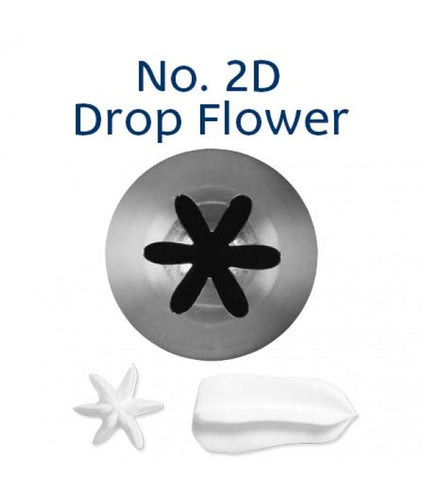 Piping Tip Stainless Steel Drop Flower Medium No. 2D