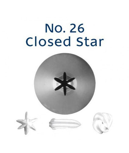 Piping Tip Stainless Steel Closed Star Standard No. 26