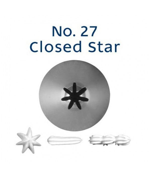 Piping Tip Stainless Steel Closed Star Standard No. 27