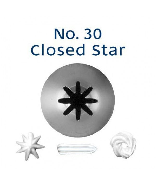 Piping Tip Stainless Steel Closed Star Standard No. 30