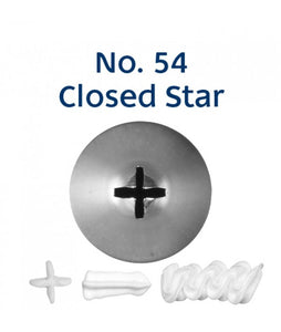 Piping Tip Stainless Steel Closed Star Standard No. 54