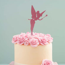 Load image into Gallery viewer, Cake Topper - Fairy Pink Glitter Acrylic