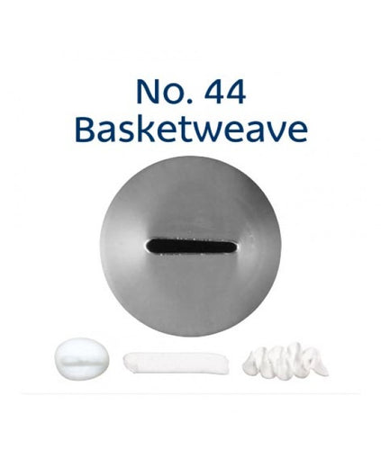 Piping Tip Stainless Steel Basketweave No. 44