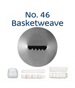 Piping Tip Stainless Steel Basketweave No. 46