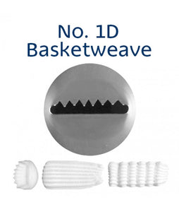 Piping Tip Stainless Steel Basketweave No. 1D