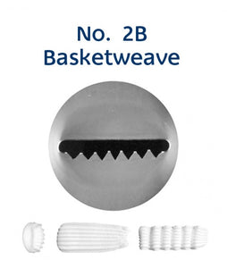 Piping Tip Stainless Steel Basketweave No. 2B