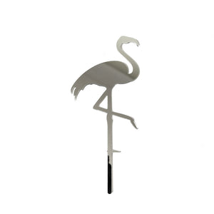 Cake Topper - Flamingo Silver Mirror