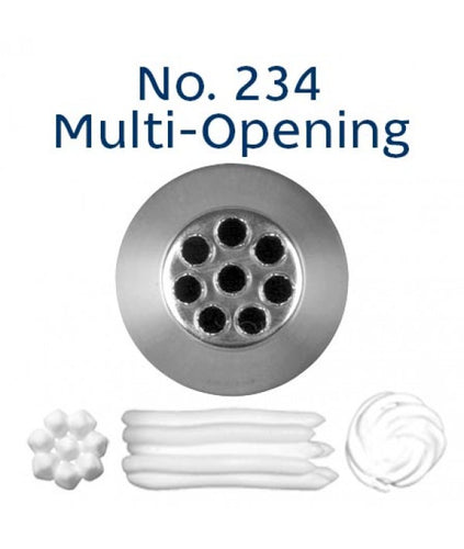 Piping Tip Stainless Steel Multi-Opening Medium No. 234 (Large Grass Tip)