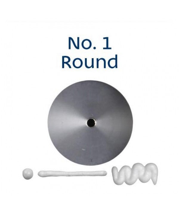 Piping Tip Stainless Steel Round Standard No. 1