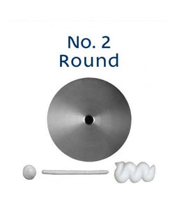 Piping Tip Stainless Steel Round Standard No. 2