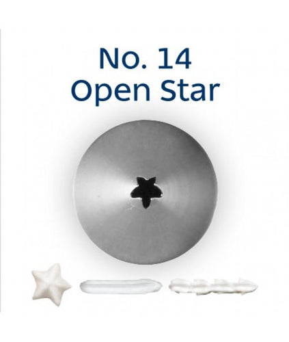 Piping Tip Stainless Steel Open Star Standard No. 14