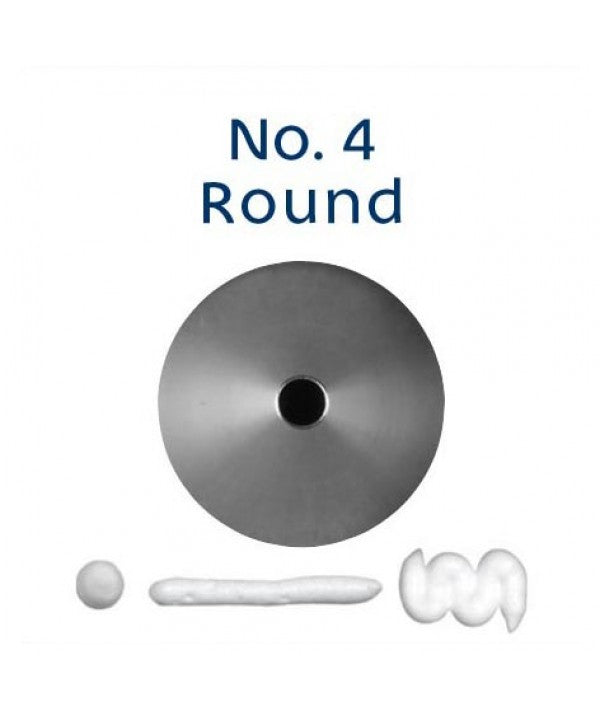 Piping Tip Stainless Steel Round Standard No. 4
