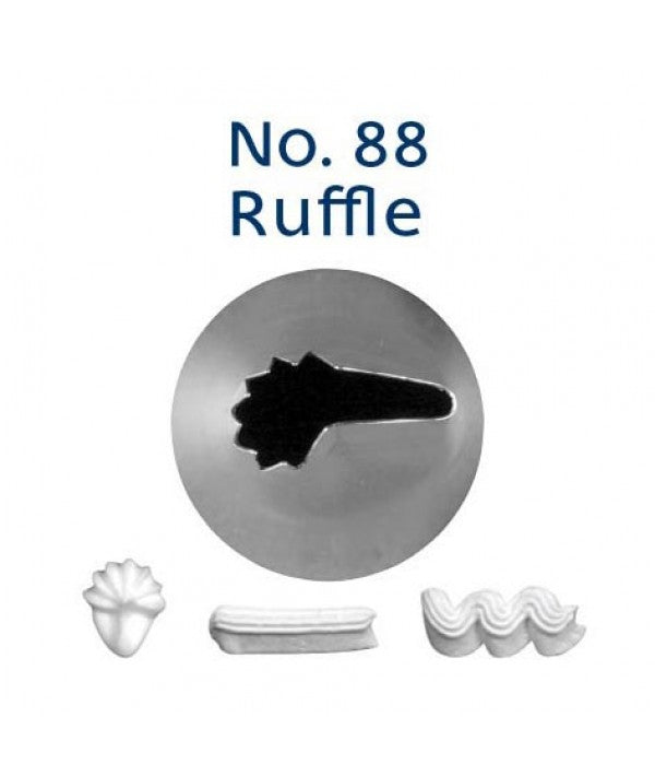 Piping Tip Stainless Steel Ruffle Standard No. 88