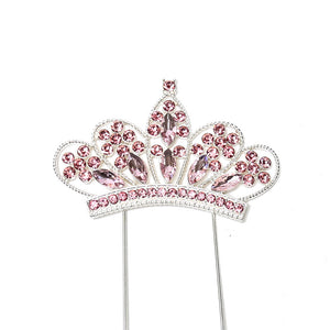 Cake Topper - Crown Pink Diamante