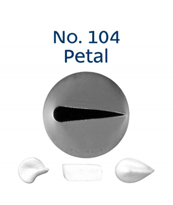 Piping Tip Stainless Steel Petal Standard No. 104