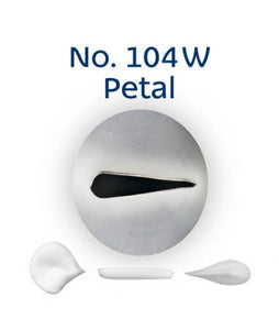 Piping Tip Stainless Steel Petal Standard No. 104W
