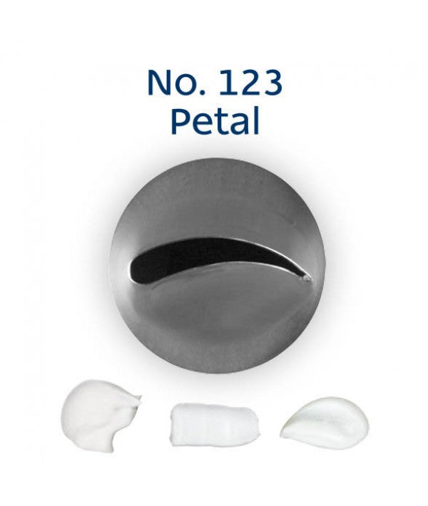 Piping Tip Stainless Steel Petal Medium No. 123