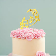 Load image into Gallery viewer, Cake Topper - Music Notes Gold Plated