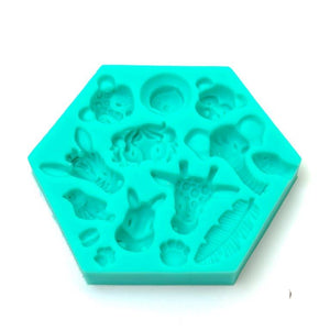 Silicone Mould - Jungle Animals