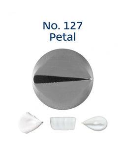 Piping Tip Stainless Steel Petal Medium No. 127