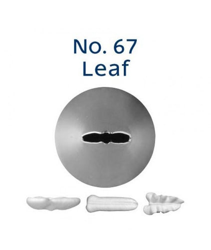 Piping Tip Stainless Steel Leaf Standard No. 67