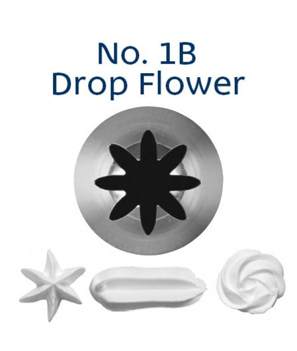 Piping Tip Stainless Steel Drop Flower Medium/Large No. 1B